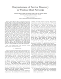 Responsiveness of Service Discovery in Wireless Mesh Networks