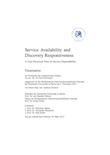 Service Availability and Discovery Responsiveness – A User-Perceived View on Service Dependability